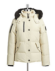 3Q Down Parka with Fur Trim
