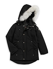 Down Parka with Arctic Fox Fur