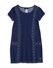 Studded Denim T-Shirt Dress
