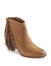 Chain Fringe Nubuck Booties