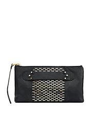 Next Chapter Leather Stud Clutch