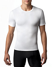Cotton Compression Crew Neck Tee Shirt