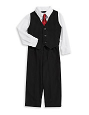 Four-Piece Pinstriped Formal Set