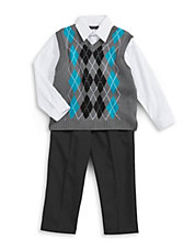 Three-Piece Sweater Vest Set