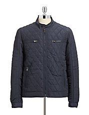 Verona Quilted Bomber Jacket