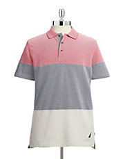 Colourblock Oxford Cotton Polo