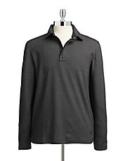 Long Sleeve Zip Polo