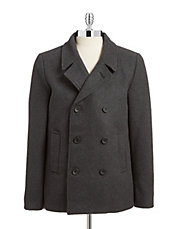 Double Breasted Wool-Blend Coat
