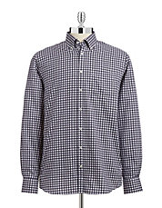 Gingham Easy-Care Sport Shirt