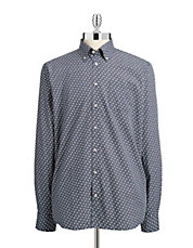 Dotted Button-Up Shirt