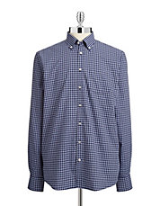 Checkered Button-Up Shirt