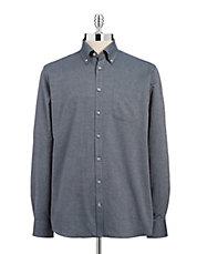 Jacquard Button-Down Shirt