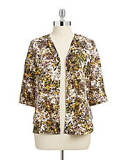 Plus Winter Garden Print Top