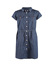 Denim Button-Up Shirt Dress