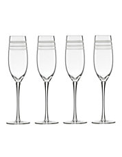 Library Stripe Set of 4 Flutes