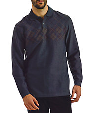 Argyle Long Sleeve Polo