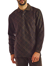 Checked Long Sleeve Polo