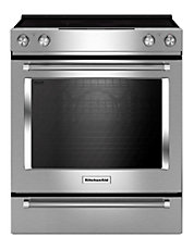30' 6.4 Cu. Ft. Capacity 5-Element Slide-In Electric Convection Range with Even-Heat True Convection
