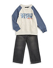 Raglan Sweater and Jeans Set