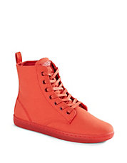Hackney Lace-Up Canvas Boots