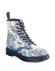 Pascal Print Leather Boots