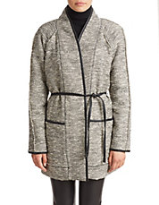 Stretch Tweed Coat