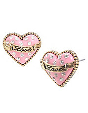 Love Heart Stud Earring