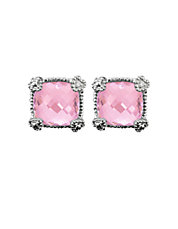 La Petite Cushion Stone Stud Earring