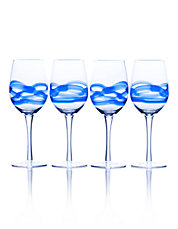 Admiral Cobalt 17 Ounce Wine Glass Set Of 4 Boxed