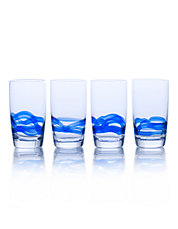 Admiral Cobalt 18 Ounce Highball Glass Set Of 4 Boxed