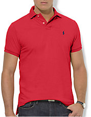 Custom Fit Short Sleeved Cotton Mesh Polo