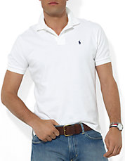 Classic Fit Short Sleeved Cotton Mesh Polo