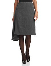 Wool Blend Asymmetric Skirt
