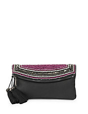 Bessy Beaded Foldover Clutch
