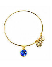 Septemeber Birthstone Charm Bangle