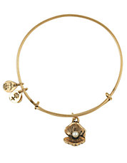 Oyster and Pearl Charm Bangle