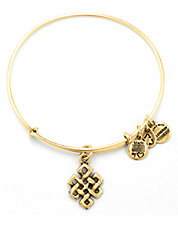 Endless Knot Charm Bangle