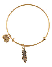 Small Feather Charm Bangle