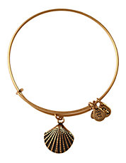 Seashell Charm Bangle