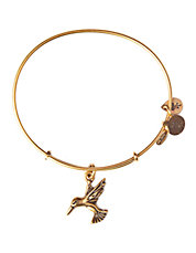Hummingbird Charm Bangle