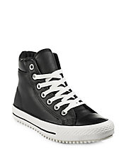 All Star Leather Hi-Top Sneakers
