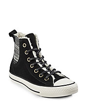 Leather Faux Shearling Sneaker
