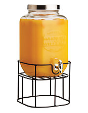 Olde English Beverage Dispenser with Metal Stand