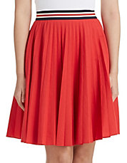 Zeya Pleated Linen Blend Skirt