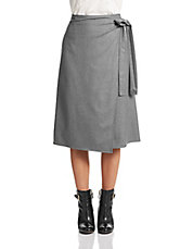 Anning Wool Wrap Skirt