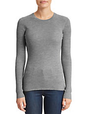 Merino Ribbed Crew Neck Shirt
