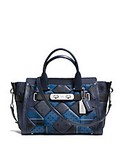 Swagger Carryall In Printed Patchwork Leather
