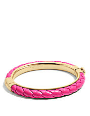 Braided Leather Hinged Bangle