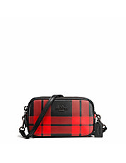 Mount Plaid Leather Crossbody Bag