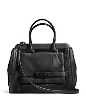 Swagger Frame Satchel in Haircalf
